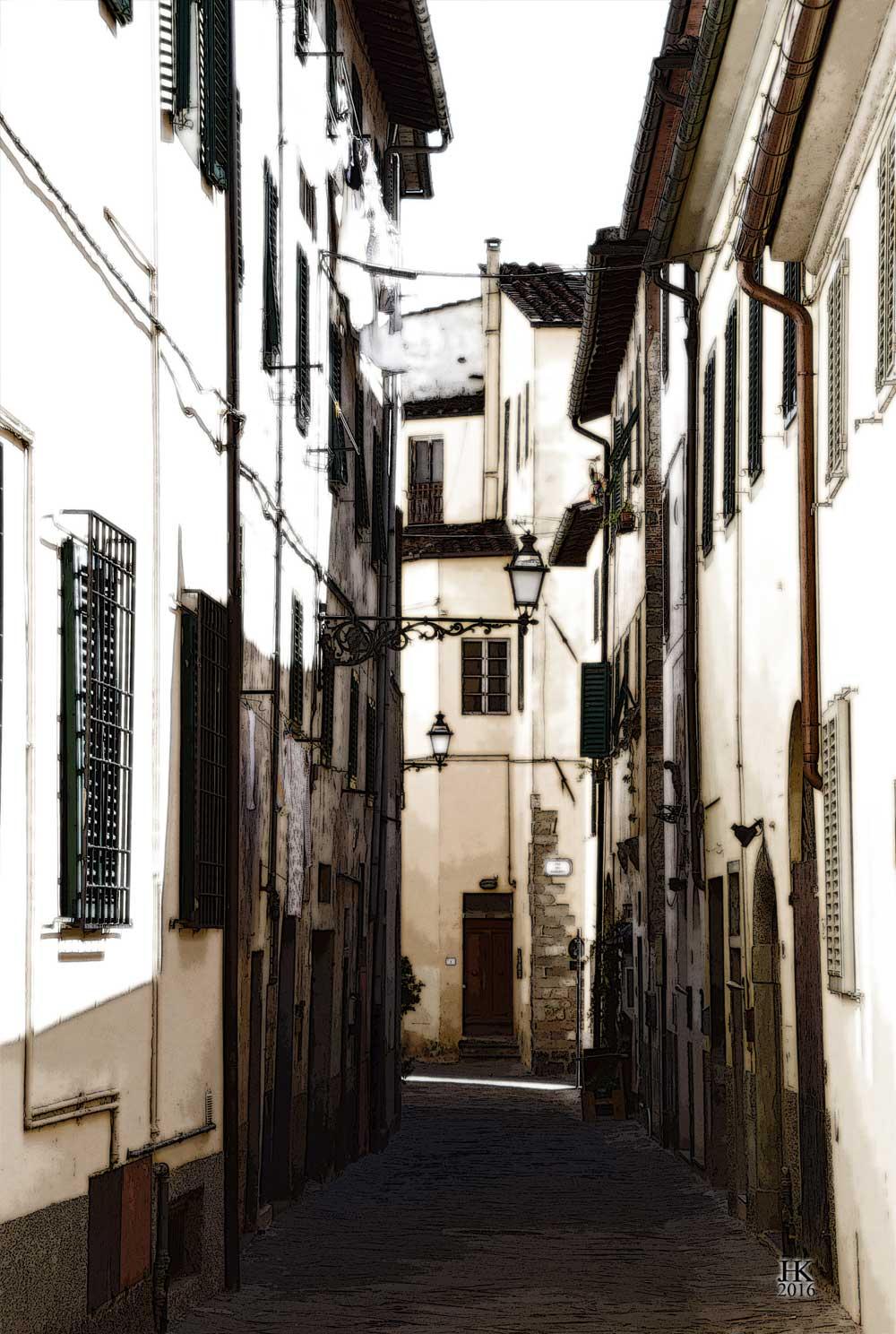 Italiaans Straatje in Lucca