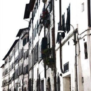 Italiaans Straatje 5 in Lucca Italië