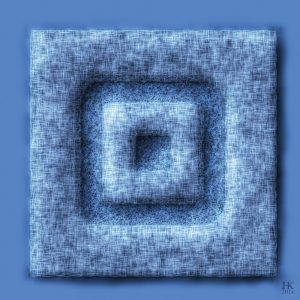 Abstracte Blauwe Vierkanten - Abstract Blue Squares ABS8