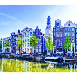 Kloveniersburgwal Panorama Amsterdam met Zuiderkerk