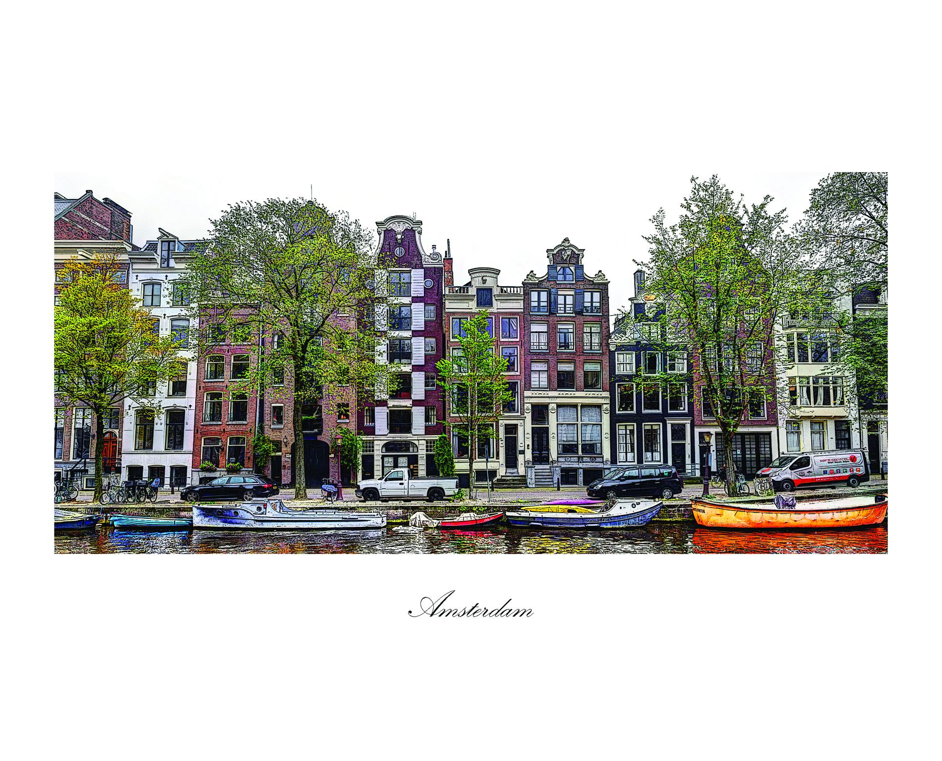 Herengracht 152 uitzicht Panorama met Amsterdam titel