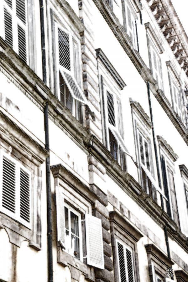 Italiaanse Gevel 1 in Lucca Italië