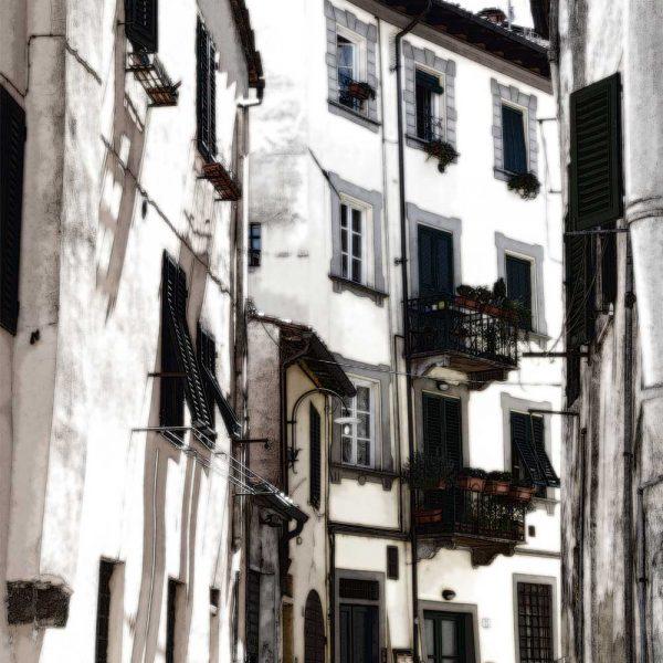 Italiaans Straatje 6 in Lucca Italië