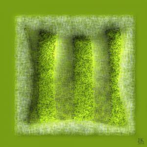 Abstract Groen Kussen - Abstract Green Pillow ABS7
