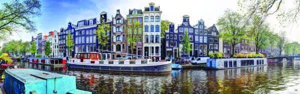 Prinsengracht 322 Amsterdam in de Herfst van 2017 Aluminiumplaat 160 x 50 cm