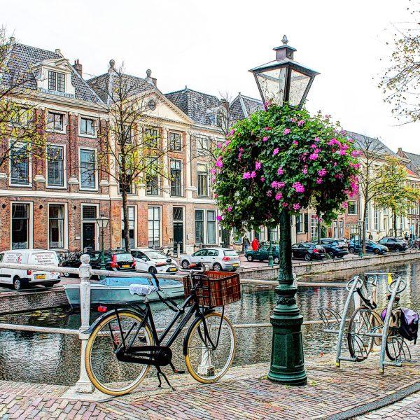 Hoek Rapenburg Doelenbrug Leiden