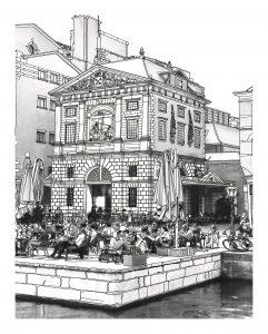 Waag tekening Leiden