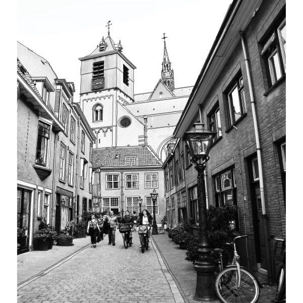 Beschuitstraat tekening Leiden