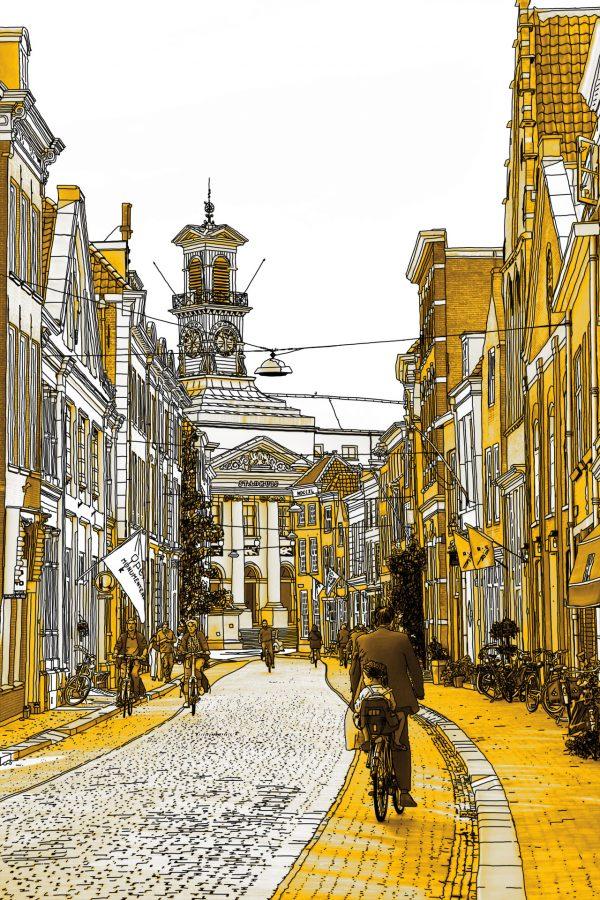 Gouden Tekening Dordrecht Stadhuis Grotekerksbuurt