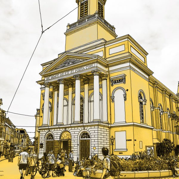 Gouden Tekening Hartenkerk Leiden Nederland