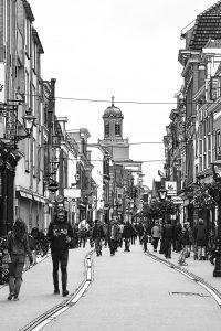 Tekening Haarlemmerstraat Leiden Nederland